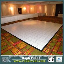 teak black& white smart dance floor easy setup