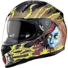 SparX Tracker Full-Face Motorcycle Helmet - Demonatrix Yellow TR