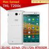 wholesale unlocked cellphones MTK6592W 1.7GHz Octa core THL T200c low price brand mobile phone