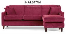 Halston Large Corner Sofa, Orient Red