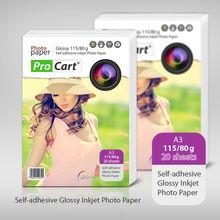 Self-adhesive A3 115/80g Glossy Inkjet photo paper