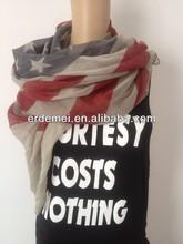 2014 Newest Vintage America flag scarf