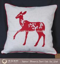 2014 hot sale custom applique cushion cover wholesale