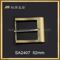 Song A 2014 fashion style anit brass handbags hardware belt buckle 52mm