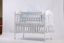 white paint solid wood baby crib / baby cot HP826BS