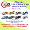 Mini Size 1:58 4CH R/C Racing Car(8 Asst)