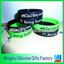 music bracelets popular fashion gifts Being human printed silicone bracelet
