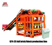 brick equipment qtj 4-25 brick machin drawings with beton mixer
