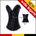 elegante negro tamaño más larga de burlesque corsés joven dama ropa interior