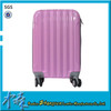 Colorful hard shell suitcases and travel bags