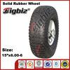 Small pneumatic wheels, Pneumatic 15x6.00-6 rubber wheel