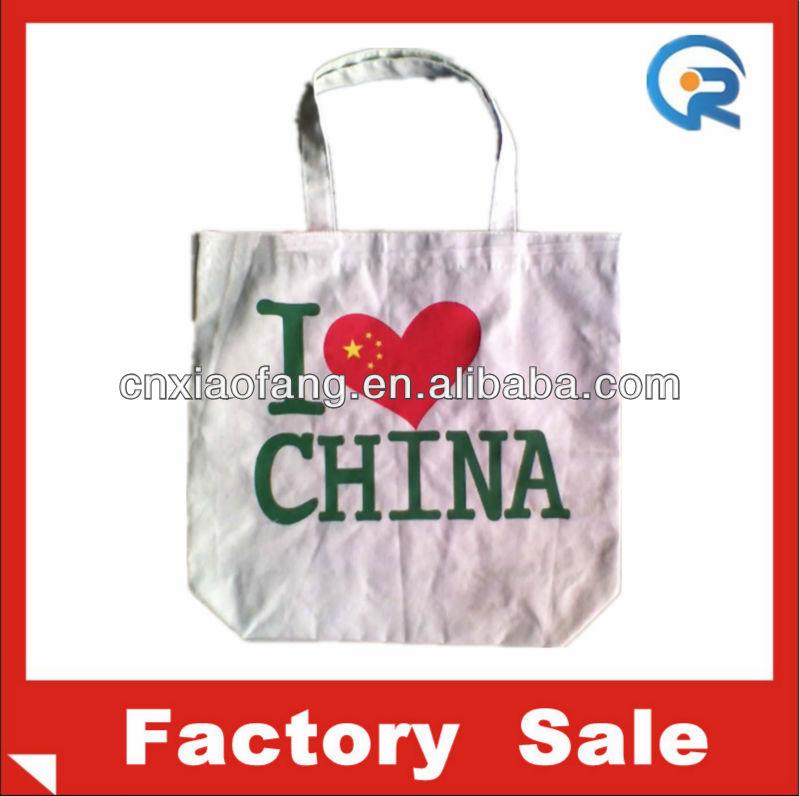 Customize Canvas cotton Tote bag/Cotton Canvas Tote Bags /Cheap Canvas Cotton bag i love china
