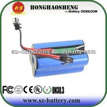 Best price for 7.4v 18650 lithium battery pack/bttery pack 7.4v 4400mah