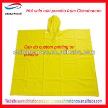 plastic rain coat/industrial rain poncho