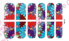 colorful flowers cover nail art sticker 2d nail foils nail wrap