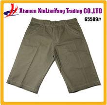 cheap army green casual men's three quarter men's bermuda pants
