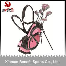 Pink custom golf stand bag for kids