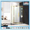 Foshan sanitary ware Tempered Glass golden shower room