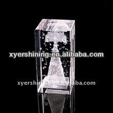 3d laser crystal image