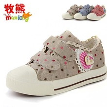 TSI7016 best selling children's shoes wholesale new spring model plain pink canvas shoes lovely girls