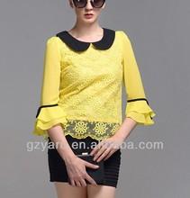 high fashion formal silk batik blouse pattern