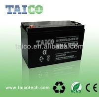 12V 100Ah lead acid rechargeable solar sealed gel batteries