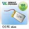 Factory directly selling IEC UN standard 3.7v 170mah li polymer battery