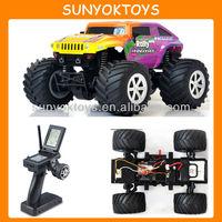 1/24 Hobby Grade Mini Big Foot Off Road Hummer 4WD 2.4G RTR RC Car Truck Jeep