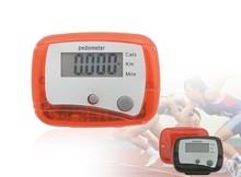 Hot selling step/kilometer/ calorie pedometer For love