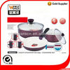 Aluminium ceramic Coating Cookware Set With Removable handles