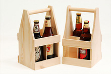 wooden box - carrier for beer