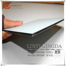 Size 1.25 x 2.44M 4MM thickness alu skin 0.30 x 0.30MM double PE one side unbroken core ACP