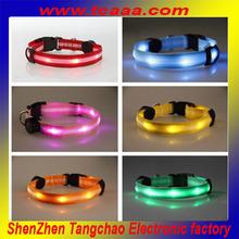 nylon dog belts with safe led flashing light
