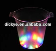 Flash of light plastic ice buckets for party