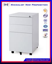 3 drawers metal mobile pedestal,modern degign mobile cabinet of steel office filing cabinet