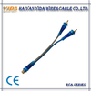 Frosted Blue&Black Transparent Audio Cable RCA Cable Y Cable