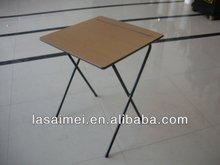Hot selling school folding metal legs / wooden top study desk