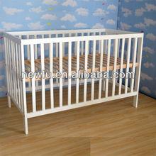 ajustable bed wooden cribs for babies EN716-1/2 approved FSC