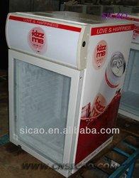 50Liters Compressor Cooling Fridge, upright display fridge, light on top Display Showcase