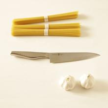 Fine stainless steel all purpose kitchen knife santoku