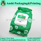 Printed towelette packing bag wet wipes packaging