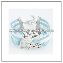 Latest love bird and infinity charm bracelet