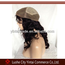 Silk top injected hand made Indian glueless silk top full lace wig