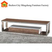 2014 fashionable good quality v-301 tv stand glass furniture