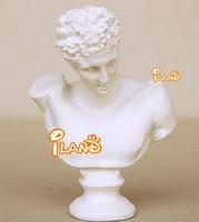 Mini resin statue Hermes statue bust for doll house white educational toys HO028D