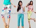 2014 nuevo de la moda de las señoras pantalón, la impresión pequeña pantalones pantalones cortos