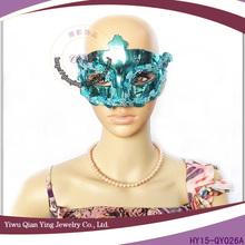 Plastic green face masks custom party