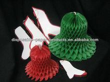 "12"" Honeycomb Waffle Paper Vintage honeycomb tissue paper Christmas bells Garlands . Lanterns Hanging Decor Flower Wedding Party"