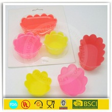 2014 hot sale siliconel big top cupcake for bake moulds