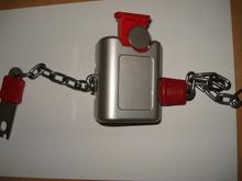 2014 NEW DESIGN euro metal supermarket shopping cart coin lock system